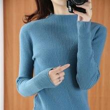 Sparsil женский зимний свитер с высоким воротником из 100% шерсти