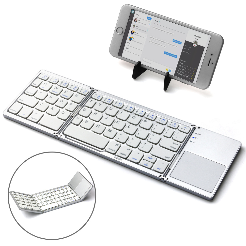 Have TouchPad Folding Bluetooth Keyboard Tablet Mobile Phone Laptop Universal Wireless Bluetooth Folding Keyboard