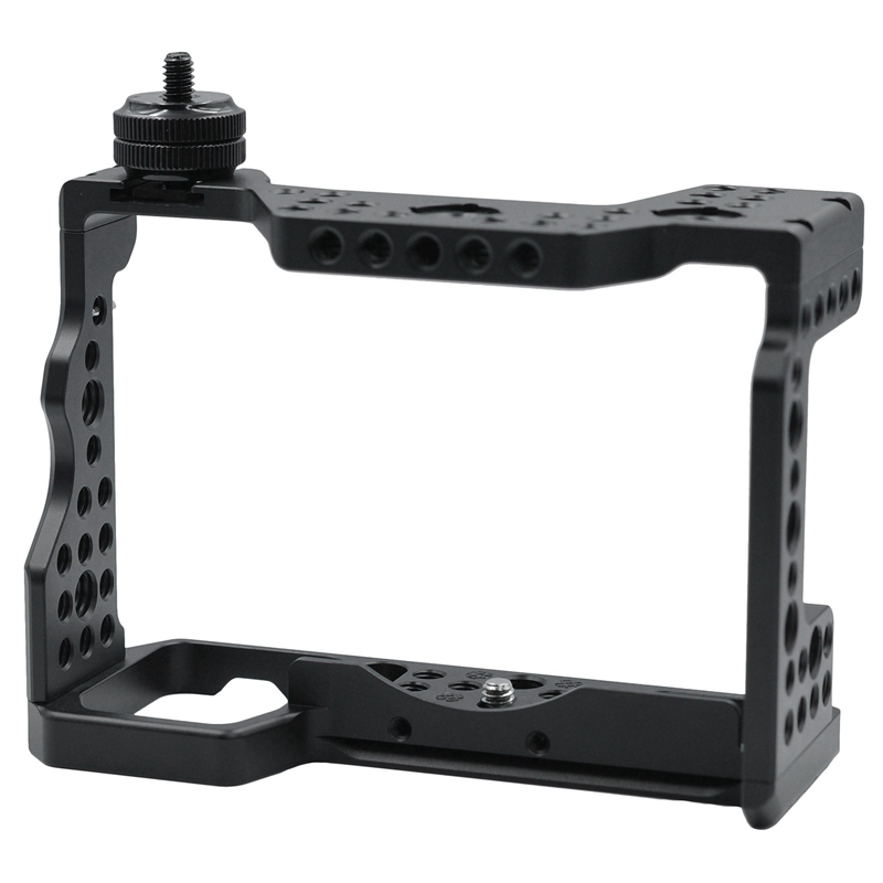 RISE DSLR Camera Cage with Arri Locating Hole 4/1 8/3 Threads Hole for Sony A9 A73 A7R3 A7M3 A7R III / A7M III/A7 III|360° Video Camera Accessories| |  - title=
