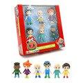 Экшн-Фигурки 6 шт./компл. Cocomelon, игрушки JJ, модель семьи, куклы с коробкой для детей, подарок