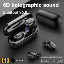 L13 tws sem fio fones de ouvido bluetooth ipx6 redução ruído display colorido à prova dwaterproof água fone para o telefone inteligente