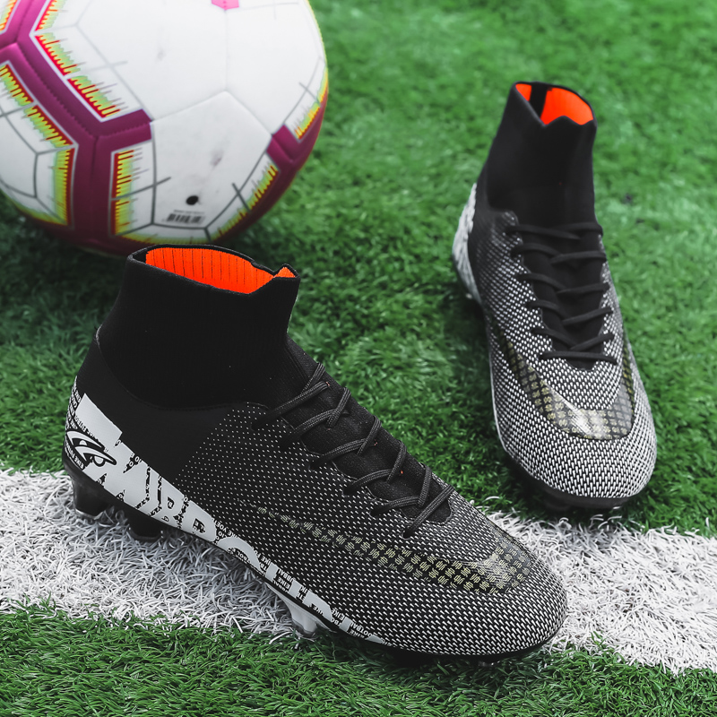 Top SaleZHENZU Cleats Soccer-Shoes Football-Boots Sport-Sneakers Training Outdoor Boys High-Ankle