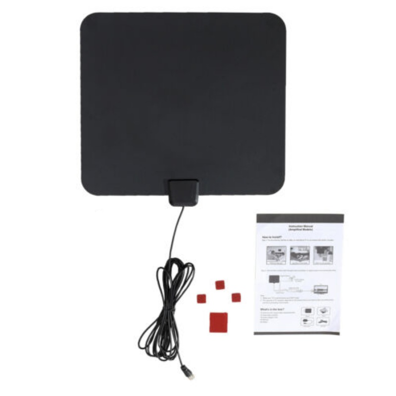 2019 New Indoor Amplified TV Antenna Thin Film View Range Flat HD Digital With 50 Miles Indoor TV Receiver