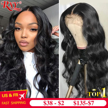 RXY Body Wave Wig 250 Density Lace Front Human Hair Wigs For Women 360 Lace Frontal Wig Remy Lace Front Closure Wig Human Hair