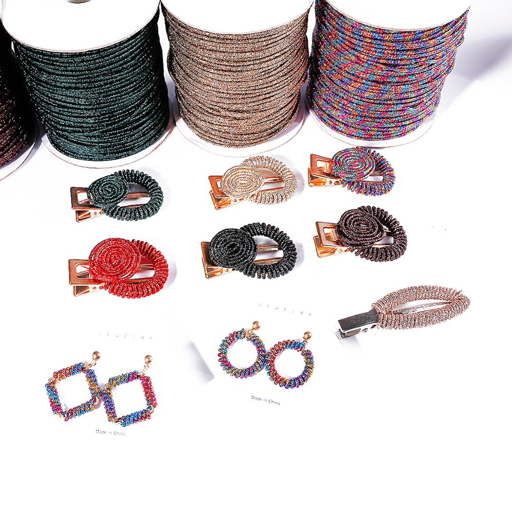 2mm 5M Soft Aluminium Wire Wrapped Metal Thread Wire Cord String Rope For DIY Earring Necklace Beading Craft Jewelry Making