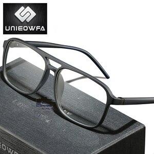 Image 1 - Anti Blau Licht Computer Gläser für Männer Rahmen Optische Brillen Rahmen Myopie Klar Grad TR90 Brille Rahmen