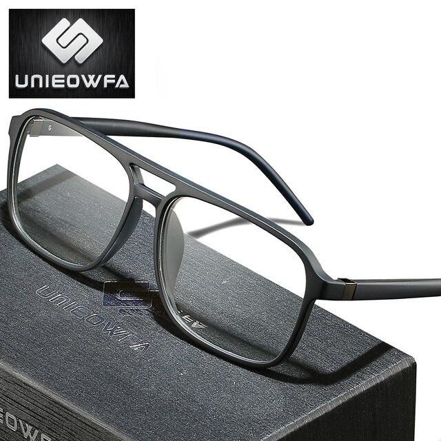 Anti Blau Licht Computer Gläser für Männer Rahmen Optische Brillen Rahmen Myopie Klar Grad TR90 Brille Rahmen