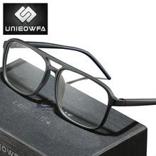 Anti Blue Light Computer Glasses for Men Frame Optical Prescription Eyeglasses Frame Myopia Clear Degree TR90 Spectacles Frame