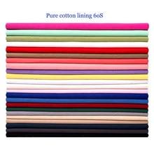 Material fino da boneca da gaze do algodão 60s do forro liso branco puro da tela do algodão de 100cm * 148cm