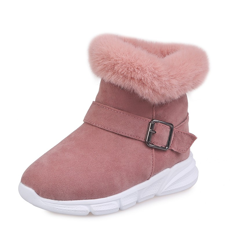 2019 Winter Fashion Plush Kids Warm Snow Boots For Little Girl Shoes Size Children'S Boots Big Kids 3 4 5 6 7 8 9 10 11 12 Year