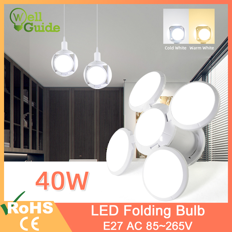 LED Lamp E27 40W 9W AC 85-265V Cold White Warm White LED Bulb Bombilla Spotlight Lampada LED Light Football UFO Lamp For Home