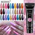 MIZHSE 18 цветов полигель для ногтей бриллиант 15 мл гель для наращивания акриловый гель лак для ногтей Блестящий Гель для маникюра дизайн ногте...