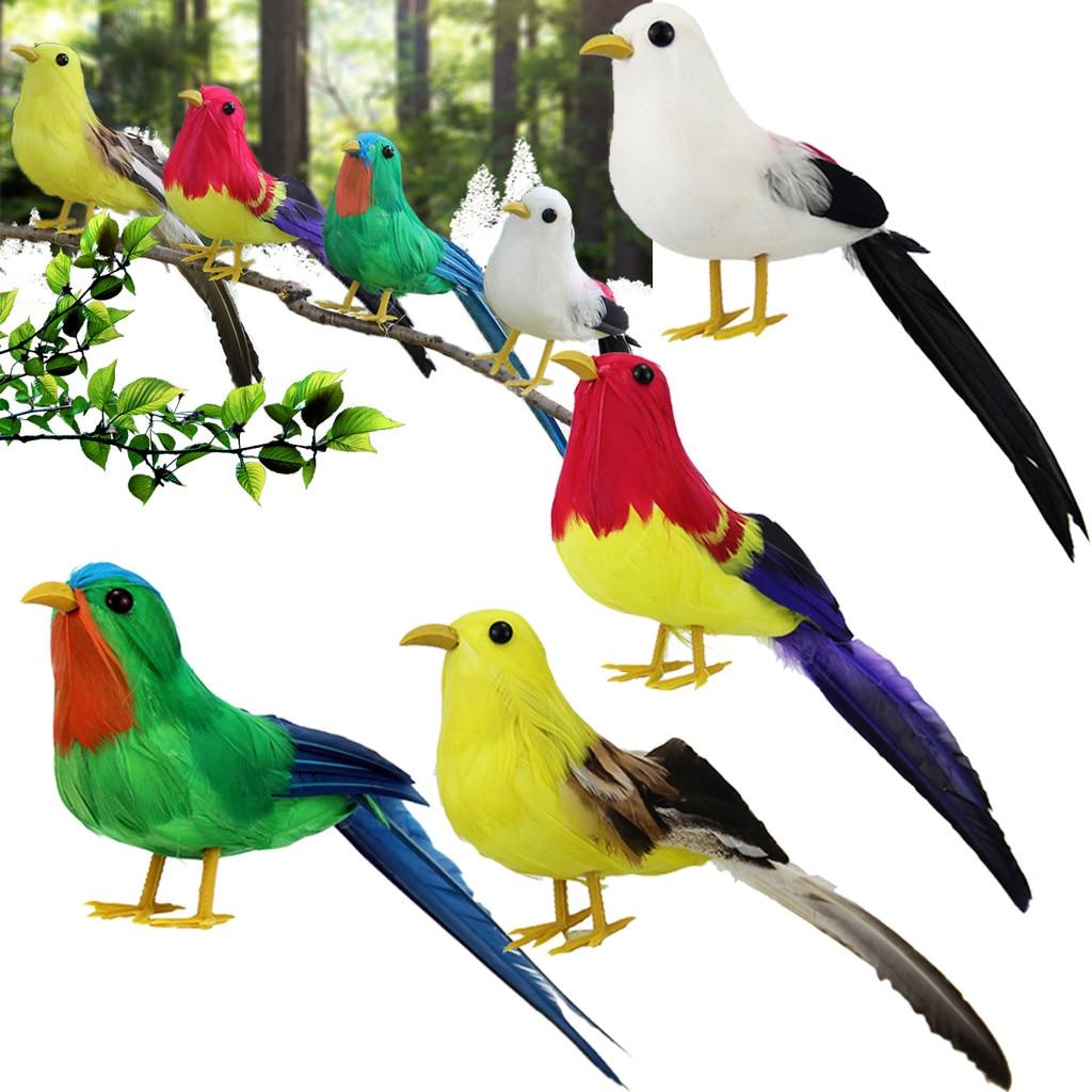 3PCS Fake Bird Cute Foam Bird Bird Figurine Artificial Bird for Home Garden Yard
