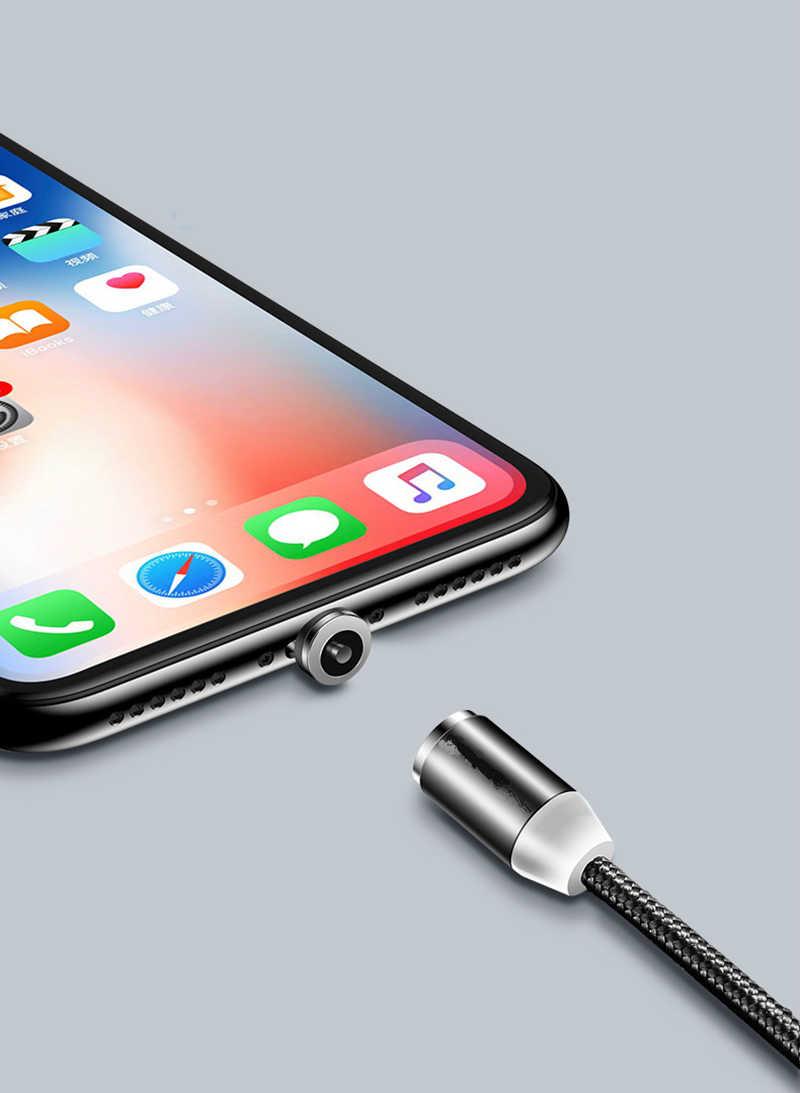 Siyah kırmızı manyetik kablo mikro USB tipi C manyetik şarj kablosu iPhone Huawei Samsung için Android cep telefonu 1m kablo