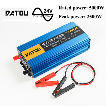 цена на 5000W Portable Pure Sine Wave Auto Voltage Converter DC 24V to AC 220V Inverter Transformer Peak 5000W Auto Accessories