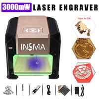 3000 mw cnc gravador a laser logotipo diy marca impressora de gravação a laser máquina escultura para windows para mac os sistema