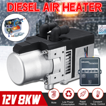 12V 8KW Diesel Air Heater Kit Diesel universal water heater  with Remote Control LCD Monitor for Motor Trucks