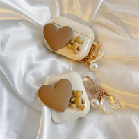Funda con colgante de perlas para AirPods 1 2 3 Pro, funda para IPhone, accesorios para auriculares, funda para Airpod