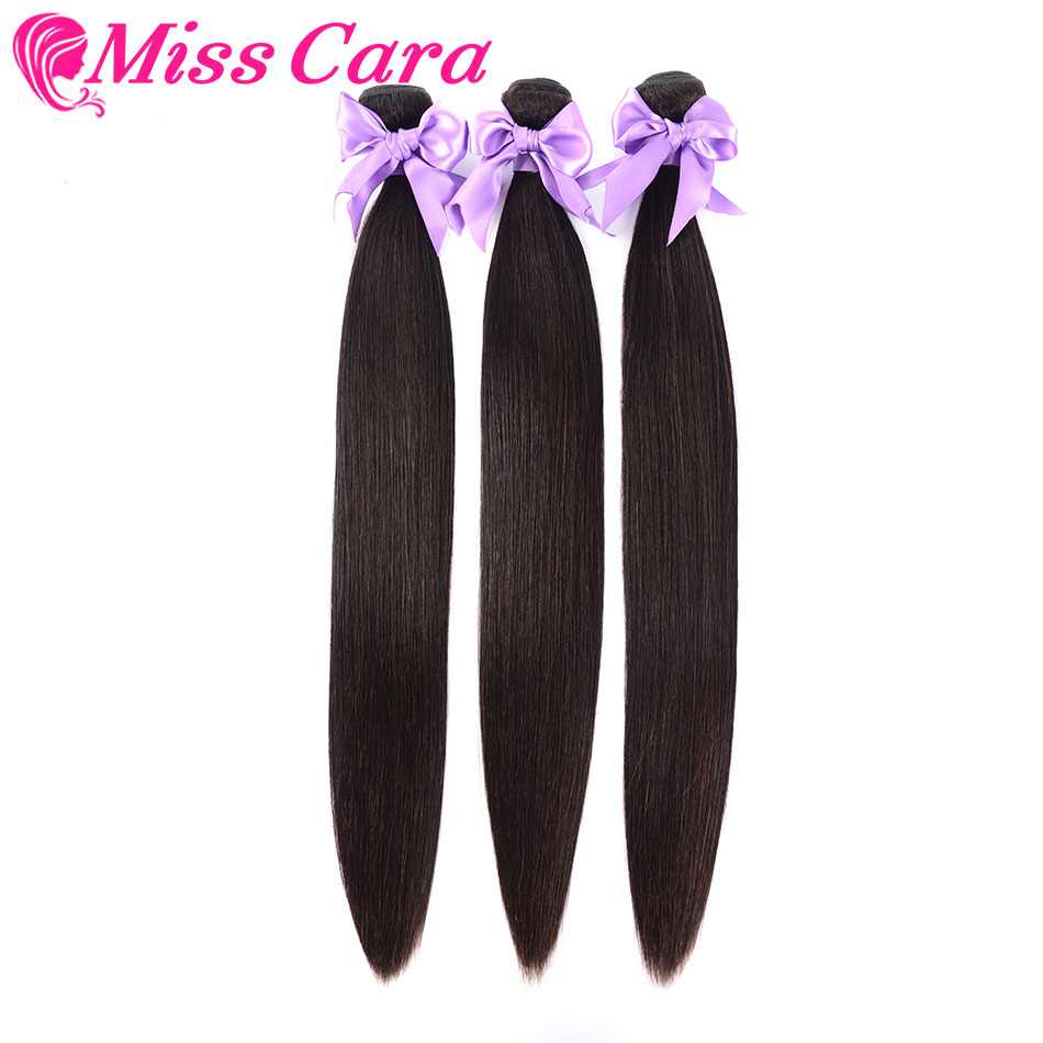 3 Pieces/ Lot Brazilian Straight Hair 3 Bundles 100% Human Hair Weave Bundles Miss Cara Remy Hair Extensions Can Be Mixed