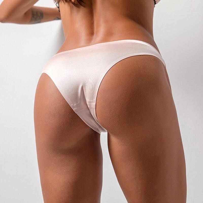 QUCO Brand Hot Silk Sexy Women's Panties String Seamless Thongs Female Underwear Tanga Panties Low-Rise Lingerie Panty Intimates
