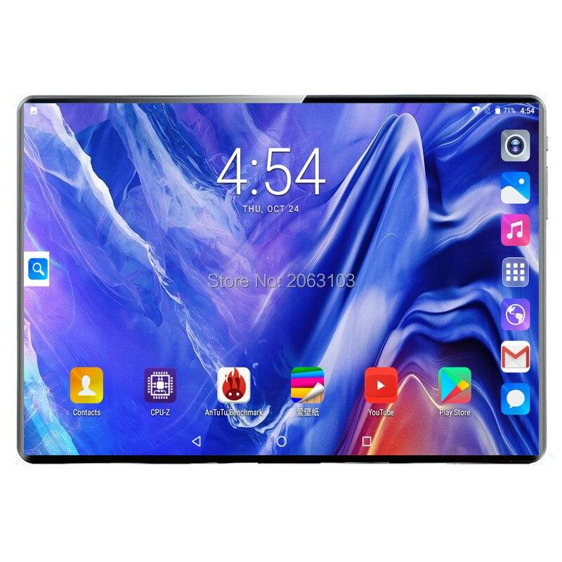 10,1 дюймов 4G телефонные звонки планшеты Android планшет Deca Core 8G + 128G планшетный ПК 3g 4G LTE две sim-карты ноутбук WiFi gps Bluetooth tab