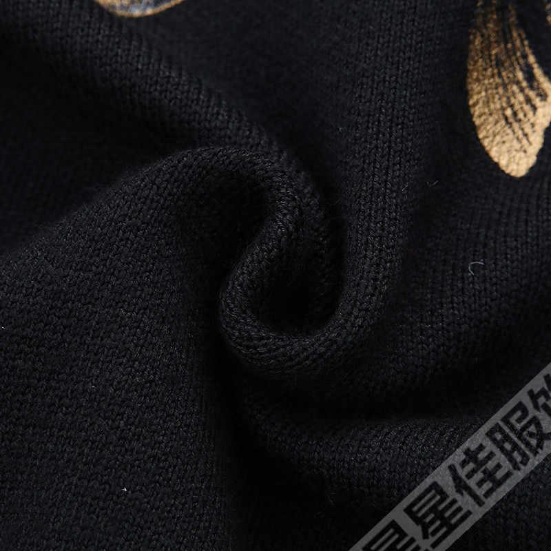 큰 크기 8XL 6XL 5XL 긴 망 카디건 플러스 크기 두꺼운 따뜻한 양모 스웨터 남성 겨울 의류 지퍼 스웨터 패션 코트