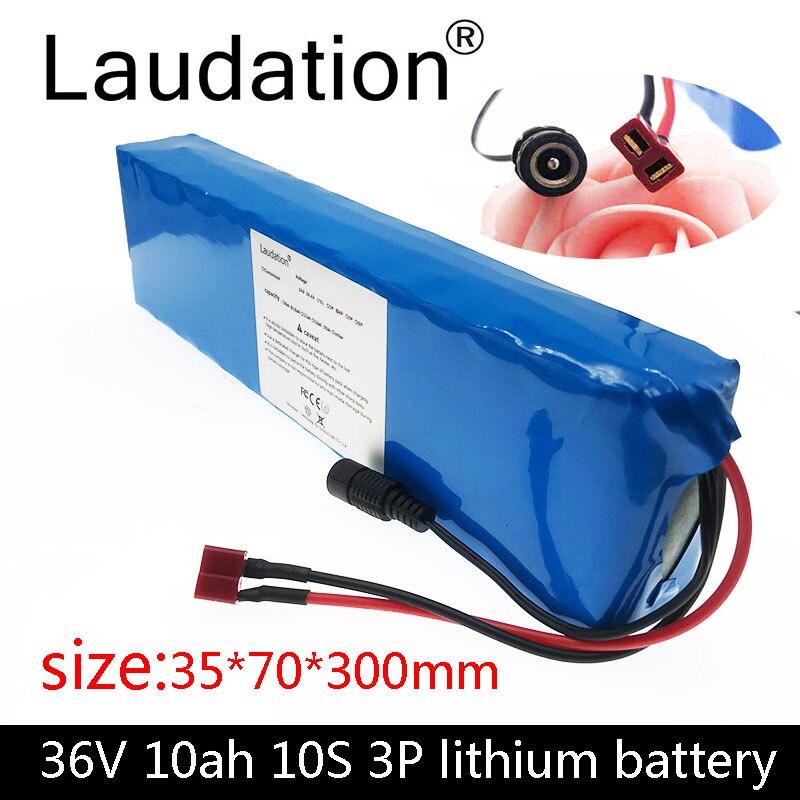 Paquete de batería de bicicleta eléctrica de 36 V 10 Ah, paquete de batería de 42 V 18650, 500 W, alta potencia y capacidad para motocicleta scooter con BMS 3S 25A Li-ion 18650 BMS batería en PCM Placa de protección BMS PCM con equilibrio para li-ion Lipo batería Módulo de celda Original