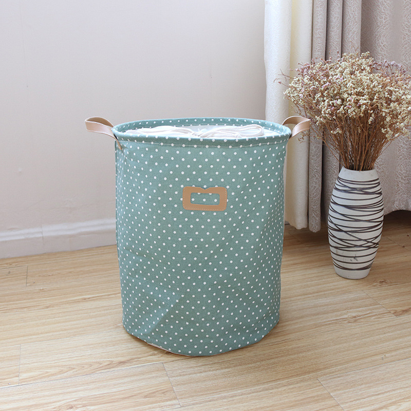 Waterproof Laundry Hamper Bag Colorful Clothes Storage Baskets Home Clothes Barrel Kids Toy Storage Laundry Basket