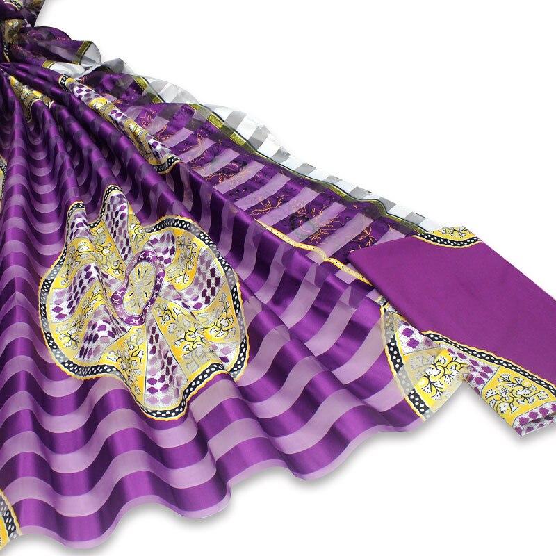Последние Африканские Восковые узоры атласная шелковая ткань для платья креативная цифровая печать восковая атласная шелковая ткань 4 + 2 ярдов/партия XM101908
