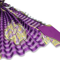 Latest african wax pattern satin silk fabric for dress creative Digital print wax satin silk fabric 4+2 yards/lot XM101908
