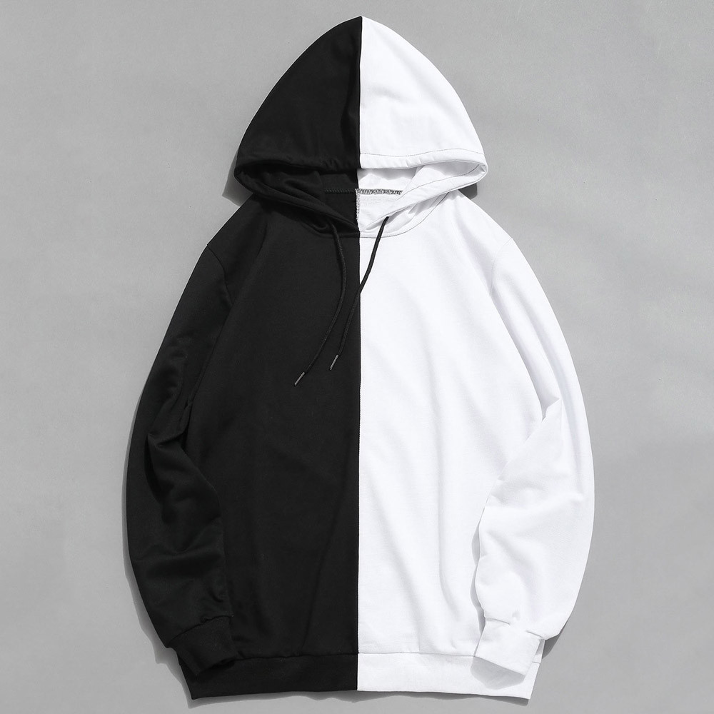 Sweatshirt Mens Casual Patchwork Slim Fit Hoodie Outwear Blouse Spring Autumn Sport Jacket Clothing