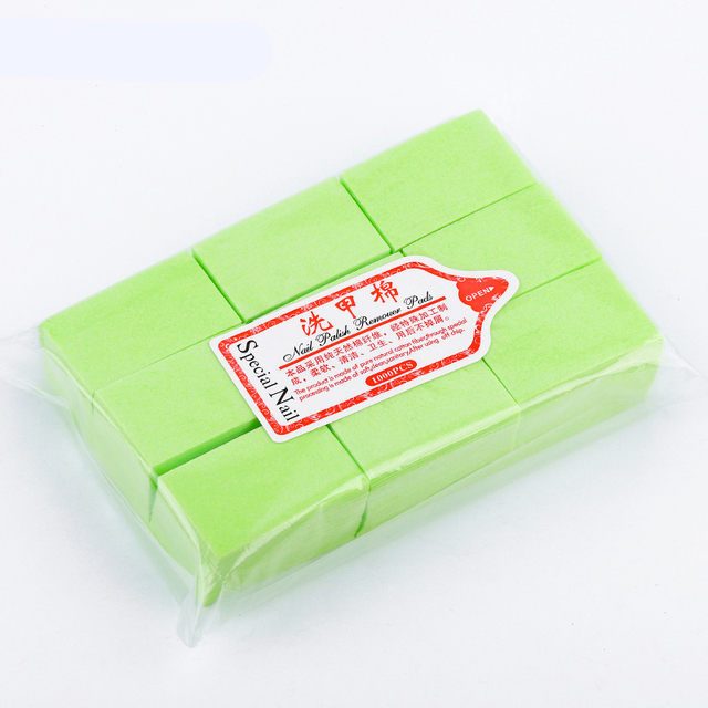 Nail Polish Remover Wipes Cleaning Lint Free Paper Pad Soak off Remover Manicure tool 5