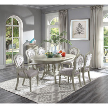 Расширяемый деревянный обеденный стол белого цвета набор дизайнов и фиолетовый мягкий стул домашней мебели WA641