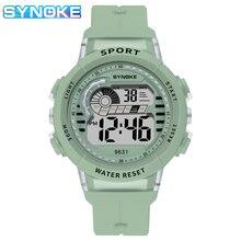 SYNOKE Children Watch 50M Waterproof Sports Kids Wristwatches LED Luminous Shockproof Boys Girls Watches Alarm Clock Relgio
