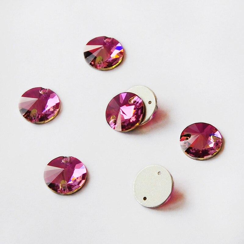 Lilac purple ab sew On Jewel 18mm GEM CRYSTAL RHINESTONE trim Bead