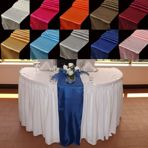 """23 Colors Satin Table Runners 12"""" x 108"""" /30cm x 275cm For Wedding Party Home Decorations Chair Sash Bow Table Cover Tablecloth(China)"""