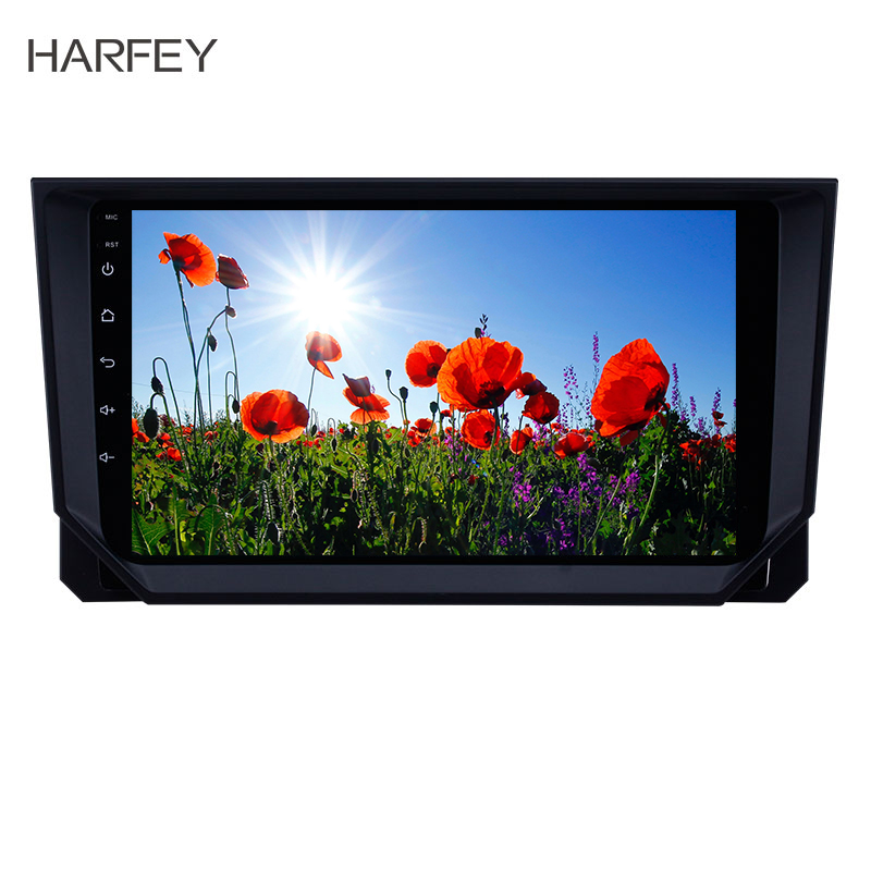 Harfey Car Multimedia player 9 inch Android 8.1 GPS <font><b>Radio</b></font> for <font><b>2018</b></font> <font><b>Seat</b></font> <font><b>Ibiza</b></font> with Bluetooth USB WIFI support TPMS Carplay DVR image