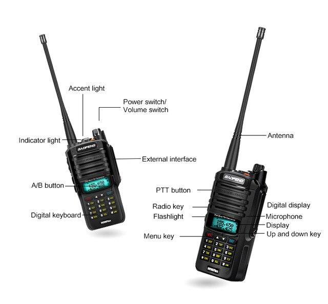 2pcs 8000mah 10W Baofeng UV-9R plus waterproof walkie talkie for CB ham radio station 10 km two way radio uhf vhf mobile plus 9r (31)