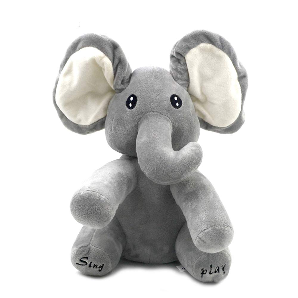 Dropshipping Millffy 1PC 30CM Electrical Elephant Stuffed Animals Singing Baby Music Toys Ears Flaping Move Interactive Doll
