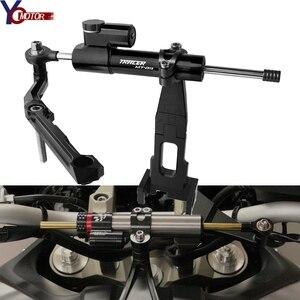 Motorcycle Steering Stabilize Damper Bracket Mount For YAMAHA FJ09 Tracer 900 MT-09 TRACER 2015 2016 2017 2018 2019 mt 09 Tracer