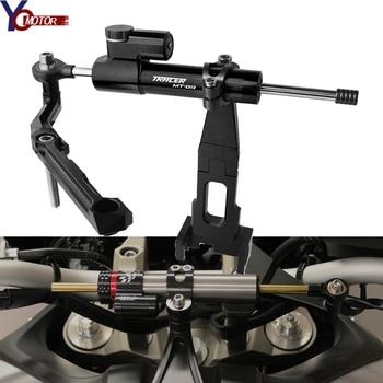цена на Motorcycle Steering Stabilize Damper Bracket Mount For YAMAHA FJ09 Tracer 900 MT-09 TRACER  2015 2016 2017 2018 2019 mt09 Tracer