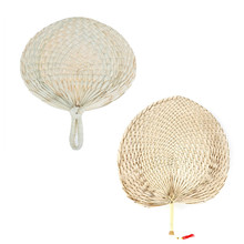 Fan Summer Hand-Fans Wedding-Supplies Manual-Straw Palm-Leaf Gift Bamboo Dance Party
