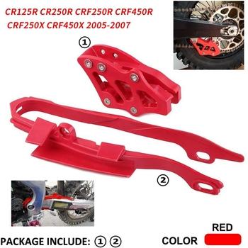 Motorcycle Chain Slider Guide Protector+Chain Guide Guard for HONDA CR125R CR250R CRF250R CRF450R CRF250X CRF450X