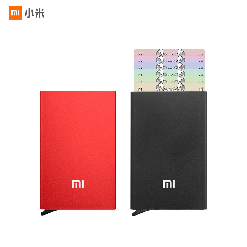 New Xiaomi Youpin MIIIW Card Holder Stainless Steel Silver Aluminium Credit Card Case Women Men ID Card Box Case Pocket Purse D5