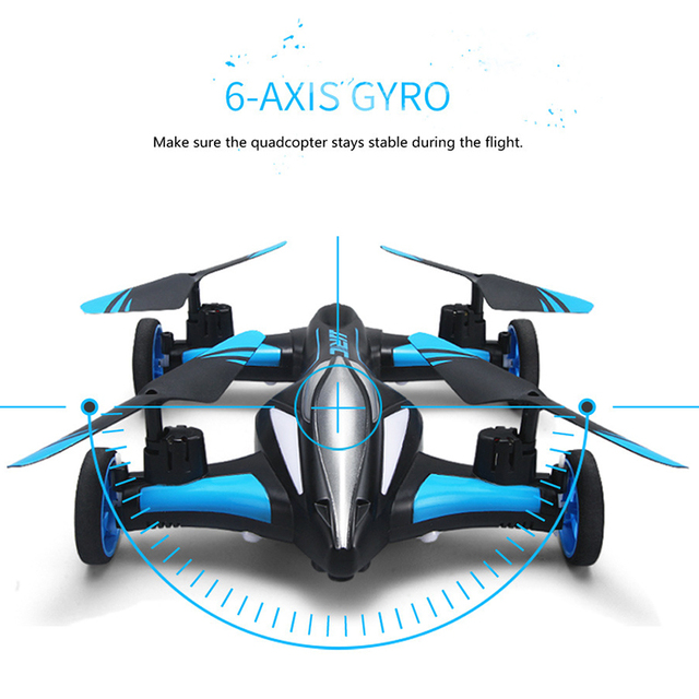 2.4G RC Drone Air-Ground Flying Car H23 Quadcopter with light One-key Return Remote Control Drones Model Helicopter Best Toys 6