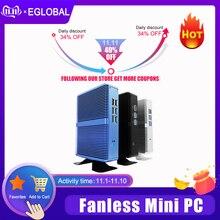 EGLOBAL بدون مروحة جهاز كمبيوتر صغير إنتل i5 7200U i3 7167U DDR4 DDR3 Nuc الكمبيوتر لينكس ويندوز 10 برو 1 * mSATA 1*2.5 SATA 4K HTPC HDMI VGA