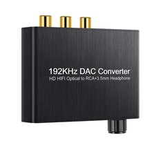 New 192 KHz DAC Converter Support DTS / Dolby AC3 5.1 CH TO RCA 3.5 Mm Jack Digital-to-Analog Audio Converter