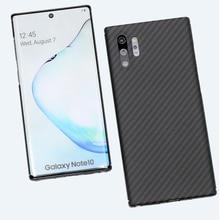 Samsung Galaxy not için 10 artı durumda karbon Fiber Ultra ince Aramid elyaf kılıfları Samsung not 10 + not 10 artı Note10