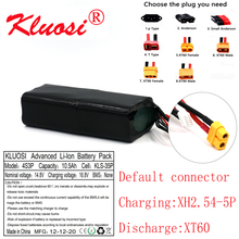 KLUOSI 16.8V Li ion Battery 14.8V 10.5Ah 10Ah 4S3P High Capacity UAV Rechargeable for Various RC Airplane Drone Quadrotor XT60