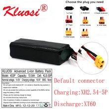 Bateria 16.8v 10.5ah 10ah 4s3p do li-íon de kluosi 14.8v uav de alta capacidade recarregável para o vário quadrotor xt60 do zangão do avião de rc